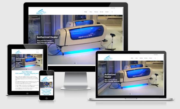 Web Design Austin - Aqua Massage Dealer